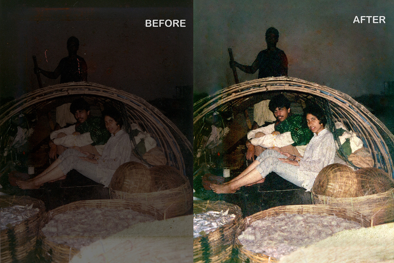 Photo Restoration fix faded dark photos
