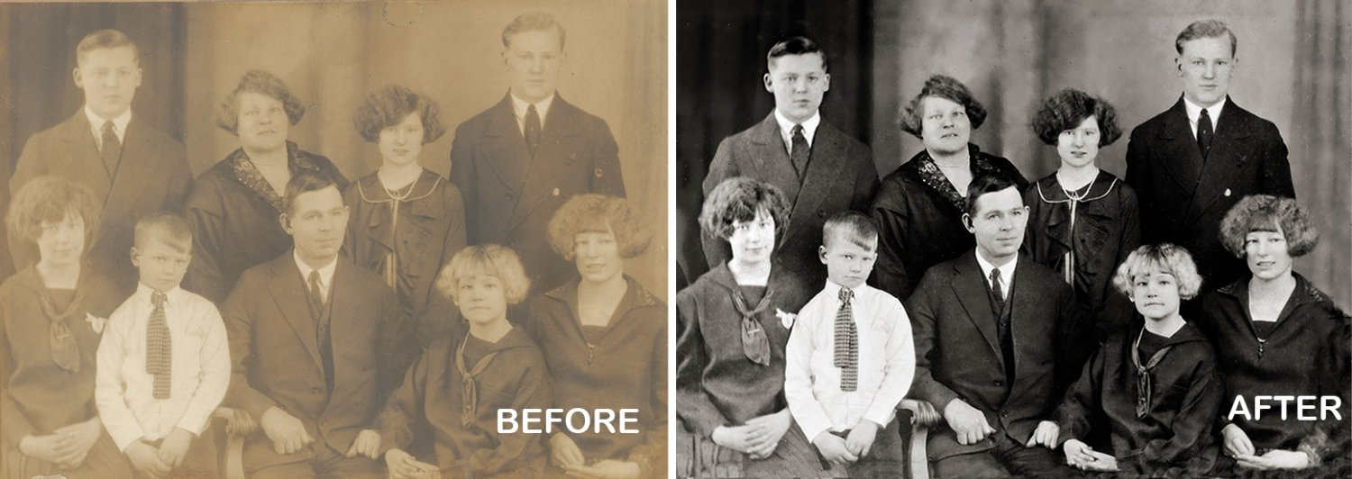 Photo Restoration enhance contrast